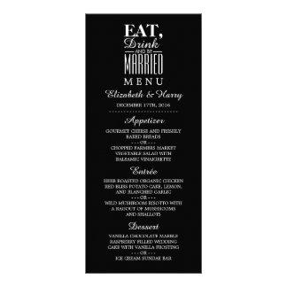 Eat, Drink and be Married Wedding Menu