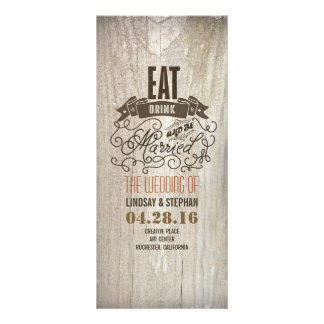 Eat drink and be married wedding programs