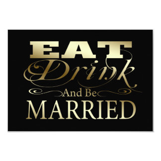 Eat Drink And Be Married Wedding RSVP Card