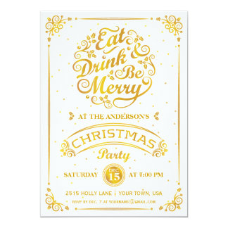 Eat, Drink, and Be Merry Christmas Party in Gold Card