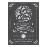 Eat, Drink, and Be Merry Christmas Party Invite