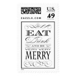 Eat Drink and Be Merry Dinner Party Stamp