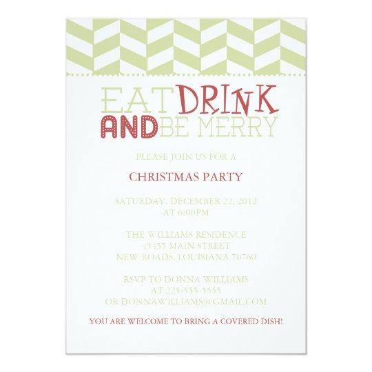 Eat Drink and Be Merry | Herringbone Card