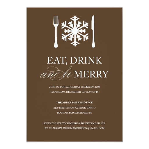 EAT DRINK AND BE MERRY | HOLIDAY PARTY INVITATIONS