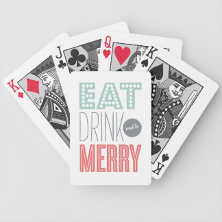 EAT DRINK AND BE MERRY | HOLIDAY PLAYING CARDS