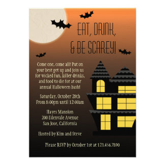 Eat Drink and Be Scarey Invite
