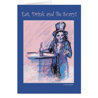 Eat, Drink and be Scary Card