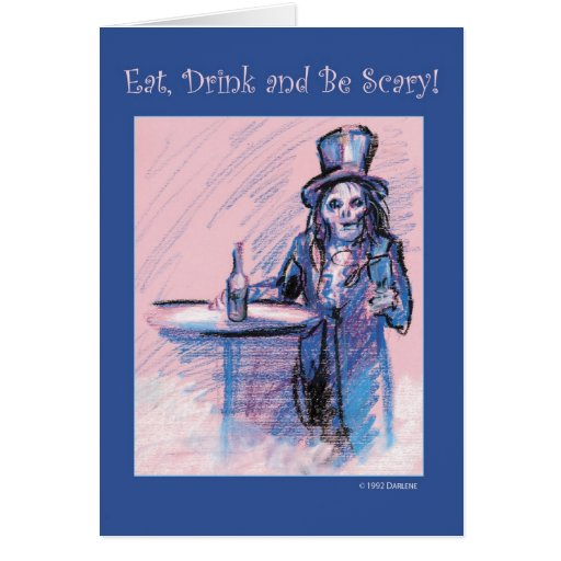 Eat, Drink and be Scary Cards