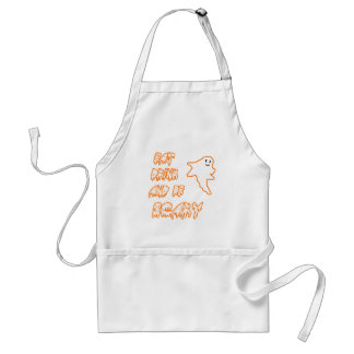 Eat Drink and Be Scary Cute Ghost Design Adult Apron