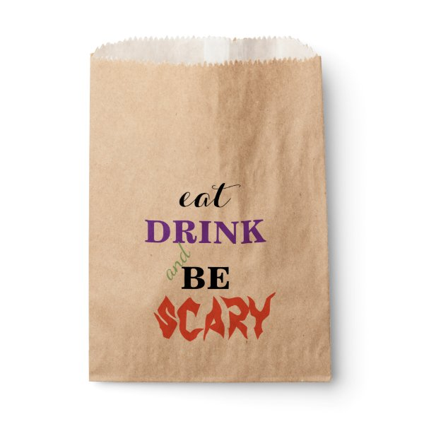 EAT Drink and be Scary Halloween Favor Bag
