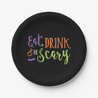 Eat Drink and Be Scary Halloween Plates
