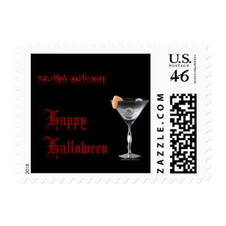 Eat Drink and be Scary Halloween Postage
