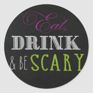 Eat drink and be scary stickers II