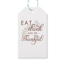 eat drink and be thankful gift tags