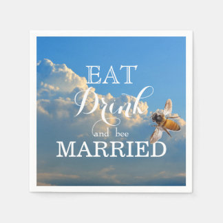 Eat Drink and bee Married Paper Napkin