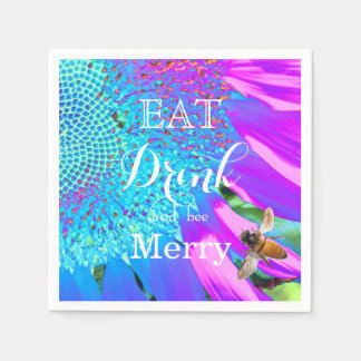 Eat Drink and bee Merry Napkin