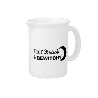 Eat, Drink, and Bewitchy Beverage Pitcher
