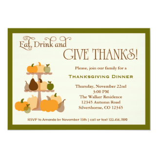 Eat, Drink and Give Thanks Invitation