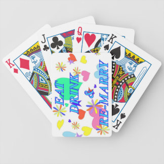 Eat drink and remarry bicycle playing cards
