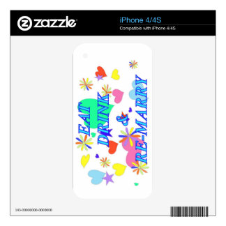 Eat drink and remarry decals for the iPhone 4