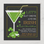 Eat, Drink & Be Irish St. Patrick's Day Cocktail Invitation