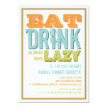 Eat, Drink & be Lazy at a Summer BBQ Party Custom Announcement
