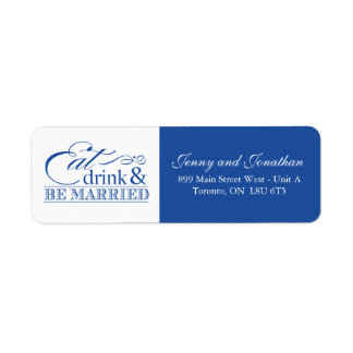 Eat Drink Be Married Address Labels