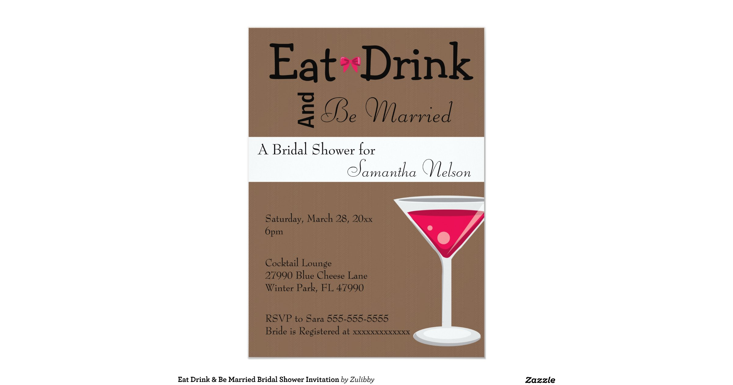 Snap EAT DRINK AND BE MARRIED Wedding Shower Invitation Zazzle ...