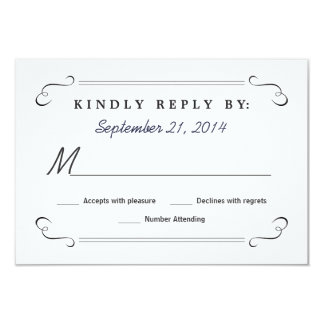 Eat Drink be Married Chalkboard Rounded RSVP Card