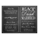 "Eat, Drink & Be Married Chalkboard Wedding 8.5"" X 11"" Flyer"