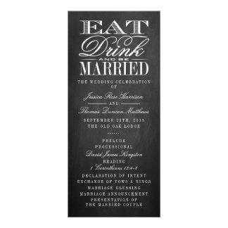 Eat, Drink & Be Married Chalkboard Wedding Rack Card