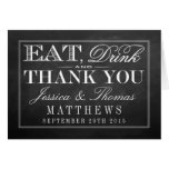 Eat, Drink & Be Married Chalkboard Wedding Stationery Note Card