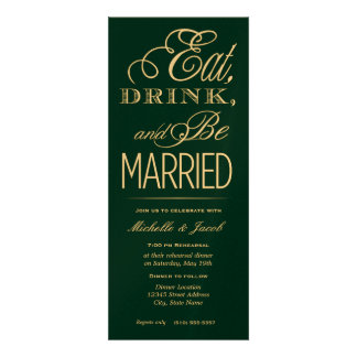 Eat, Drink, Be Married Custom Announcement