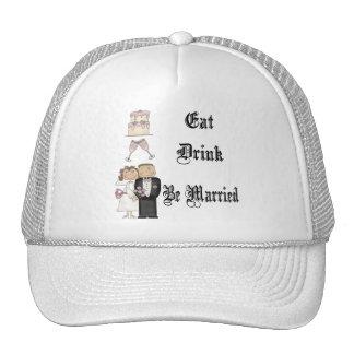 Eat,Drink,Be Married Trucker Hat