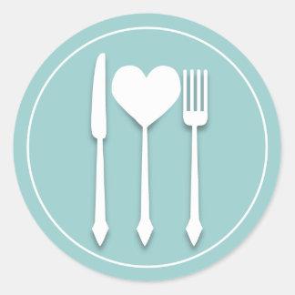 Eat Drink & Be Married Heart Love Sticker