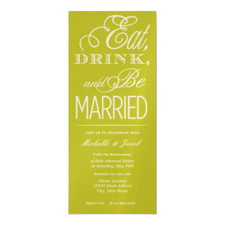 Eat, Drink, Be Married Invitations