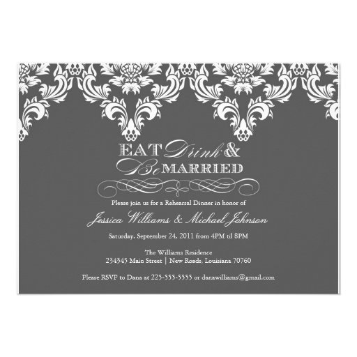 Eat Drink & Be Married Personalized Invite