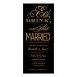 Eat, Drink, Be Married Personalized Invite