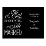 Eat, Drink, Be Married Post Cards