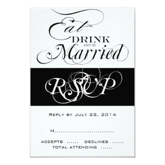 Eat, Drink, Be Married RSVP For Square Invites