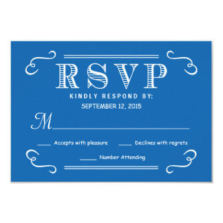 Eat Drink be Married RSVP Pacific Ocean Blue Reply Card