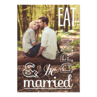 Eat Drink & Be Married Save the Date Announcement