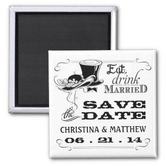Eat Drink be Married Save the Date Magnet