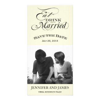 Eat Drink Be Married Save the Date Photo Cards