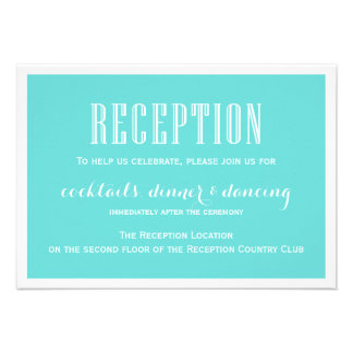 Eat Drink be Married Tiffany Blue Reception Card