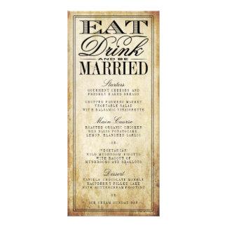 Eat, Drink & Be Married Vintage Wedding Menus Custom Rack Cards