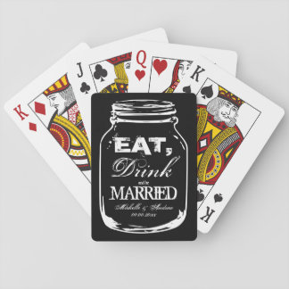 Eat drink be married wedding favor playing cards