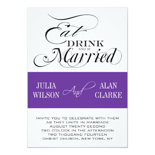 Eat Drink And Be Married Wedding Invitations could be nice ideas for your invitation template