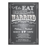 Eat, Drink & Be Married Wedding Rehearsal Dinner 5x7 Paper Invitation Card