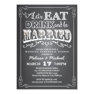 Eat Drink And Be Married Invitations Zazzle